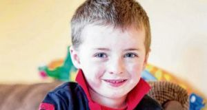 Jack Punch (4), from Co Clare, was diagnosed with meningitis when he was eight months old. photographs: eamon ward