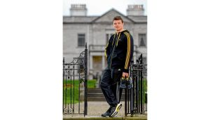 Brian O'Driscoll at the launch of the new adidas BOOST footwear in Dublin yesterday. photograph: sportsfile