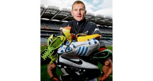 Dublin's Ciarán Kilkenny at yesterday's launch of the new website www.gaelicboots.com by the GAA and the GPA in Croke Park. photograph: david maher/sportsfile
