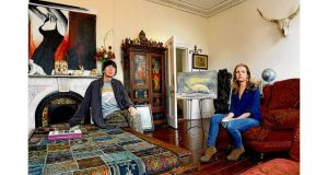 Artist Charlie Whisker and writer Julia Kelly at their home at Sidmonton House, Bray, Co Wicklow. photograph: cyril byrne