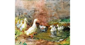Ducks On A Pond At Kilmurry, a watercolour by Mildred Anne Butler sold for €12,000