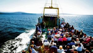Paradise island: the ferry sails from Ballycastle to Rathlin. photograph: nitb