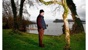 Lake poet of Leitrim: Michael Harding at Lough Allen. photograph: brian farrell