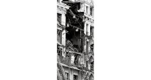 IRA bomb damage at the Grand Hotel in Brighton in 1984. photographs: bryan denton/new york times, pa