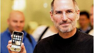 The late Steve Jobs on the launch of the iPhone, in 2007. Photograph: Don Emmert/Shaun Curry/AFP/Getty, Joe St Leger