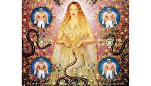 John Paul Gaultier style: La Vierge aux serpents with Kylie Minogue