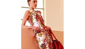 Floral dress, €169.95, by Apanage; handbag, €79.95