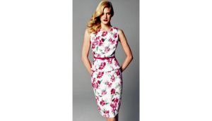 Rose pattern dress at House of Fraser