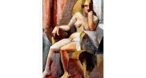 Seated Female Nude by Mainie Jellett. photographs: ulster museum, patrick and antoinette murphy, artists' estates