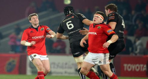 O'Gara watches his drop goal in the Munster v Ospreys match at Thomond Park on March 2nd, 2013. Photograph: Dan Sheridan/Inpho