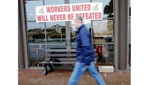 Waterford Crystal workers protested in 2009