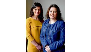 Niamh Gallagher (left) and Michelle O'Donnell Keating, who founded Women for Election, the organisation behind Inspire. photographs: dara mac dónaill