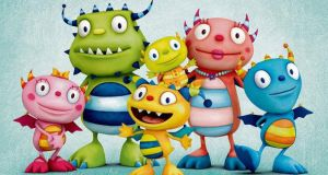 The Happy Hugglemonsters by Brown Bag, which is currently airing on Disney Jr