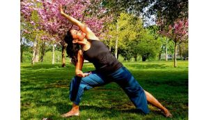 Kanta Barrios strikes the pose: 'Good yoga therapeutics is good alignment.'
