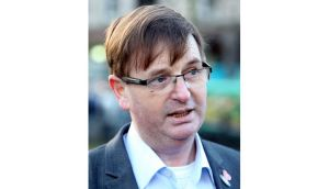 Willie Frazer in Belfast in January. He was today refused bail after being accused of encouraging or assistng offences in the Union flag protests. Photograph: Paul Faith/PA Wire.