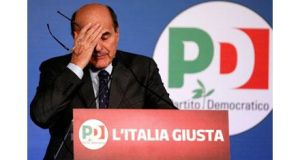 Italian centre-left leader Pier Luigi Bersani today ruled out forming a coalition with Silvio Berlusconi to solve an intractable crisis after an inconclusive election outcome. Photograph: Reuters.