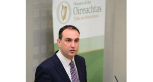 Fianna Fail's Senator Marc McSharry speaks at the publication of the party's policy document on suicide prevention. Photograph: Bryan O'Brien.