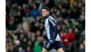 Dublin's Bernard Brogan celebrates scoring the first goal of the game against Mayo. He scored 1-10 in total at Croke Park. Photograph: Ryan Byrne/Inpho