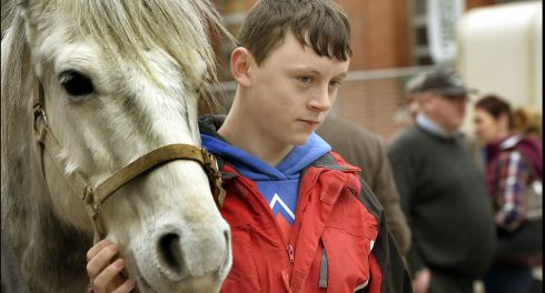 Daniel Cray from Glasnevin, Dublin photographed at the fair. Photograph: Brenda Fitzsimons/The Irish Times