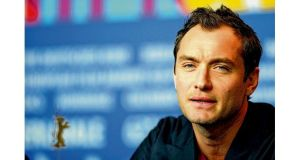 Actor Jude Law addresses a press conference for the film Side Effects at the 63rd Berlin International Film Festival in Berlin on February 12th. Photograph: Sean Gallup/Getty Images