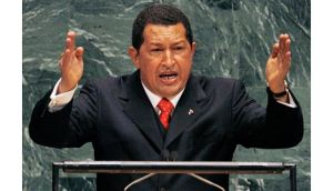 Venezuela's president Hugo Chavez addresses the 61st General Assembly of the United Nations in New York in 2006. Venezuela tonight announced the socialist leader had died following a two-year battle with cancer. Photograph: Reuters