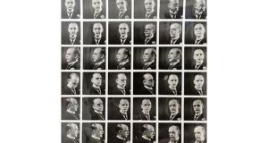 Previously unseen 1930s contact sheet of portrait photos of Alfie Byrne from the collection. Photograph: Little Museum of Dublin