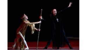 Pavel Dmitrichenko (R) performs during the media preview of Ivan the Terrible at the Bolshoi Theatre in Moscow last November. Photograph: Anton Tarasov/Reuters