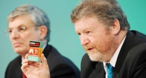 European commissioner for health Tonio Borg and Minister for Health James Reilly speaking yesterday. Photograph: Laura Hutton