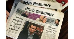 A copy of today's edition of the Irish Examiner