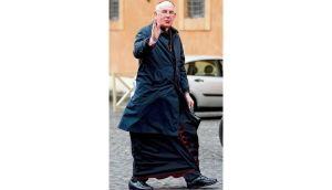 Cardinal Seán Brady arrives for a meeting at the Synod Hall in the Vatican yesterday. photograph: tony gentile/reuters