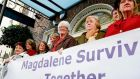 Members of Magdalene Survivors Together on their way to the Dáil before Enda Kenny's apology on behalf of the State
