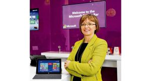 "Cathriona Hallahan: ""I think Microsoft has realised that we need to be able to move faster."" photograph: maxwells"