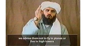 Still image from video in May 2002 shows a man believed to be al-Qaeda spokesman Suleiman Abu Ghaith. Photograph: Reuters