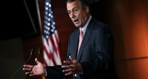 Republican House speaker John Boehner was not at the dinner hosted by US president Barack Obama, who had instead invited rank-and-file opposition congressmen.