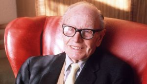 Sean O'Faolain photographed on his 90th Birthday in February 1990.Photograph: Peter Thursfield