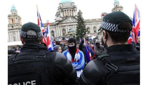 The cost of policing the continuing union flag protests in Northern Ireland has soared to over #15 million (?17.5 million).