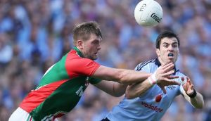 Dublin's Michael Darragh Macauley (right) is back from suspension ahead of Kildare clash. Photograph: Cathal Noonan/Inpho
