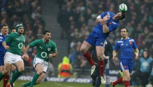 France's Louis Picamoles misses a catch against Ireland. Photograph: Niall Carson/PA