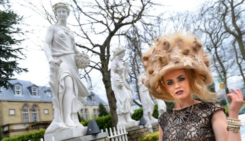 Madame Papador (styled by Nadia Benson, Lucan),  model Caoimhe Kelly of Lucan, at the IHF National Hairdressing Championships 2013. Photograph: Dara Mac Dónaill/The Irish Times