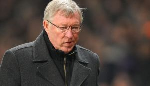 Manchester United manager Sir Alex Ferguson leaves the pitch at half time during the UEFA Champions League match at Old Trafford, Manchester. PRESS ASSOCIATION Photo. Picture date: Tuesday March 5, 2013. See PA story SOCCER Man Utd. Photo credit should read: Martin Rickett/PA Wire.