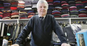9/3/2013   Story Carl O'BrienJohn Dinnage of John's Menswear, main st., Rathkeale, Co. Limerick                             Picture Liam Burke/Press 22