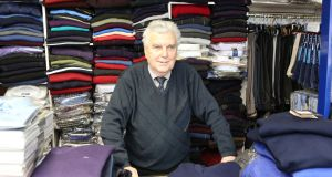 9/3/2013   Story Carl O'BrienJohn Dinnage of John's menswear on main st., Rathkeale, Co. Limerick                             Picture Liam Burke/Press 22