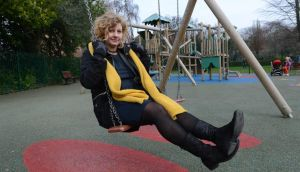 Prof Tine Rostgaard Department of Political Science, Aalborg University in Denmark, in the playground in St Stephen's Green, Dublin. Photograph: Brenda Fitzsimons