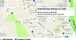 Two detached properties on Mervillle Road, Stillorgan, Co Dublin, sold in February: one for €528,000 and one for €473,000. But according to Revenue's valuation guide, houses in this area fall into Band 7: €350,001-€400,000. Graphic: Myhome.ie