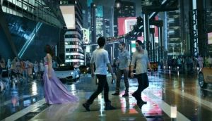 A scene from one of the futuristic Tiger beer ads filmed in Bangkok