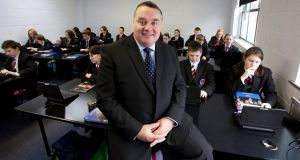 24/10/11Mr.Malone the Principal for Colaiste Chiarain, a smart school where students use laptop computers and e-books for learning in Croom County Limerick.Pic Press 22.