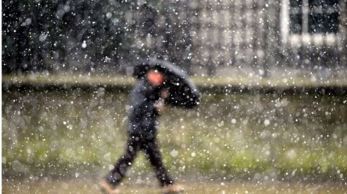 Snow  in Dublin.  Photograph: Bryan O'Brien/The Irish Times