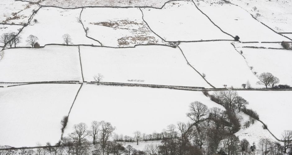 Snow in Ireland and Britain