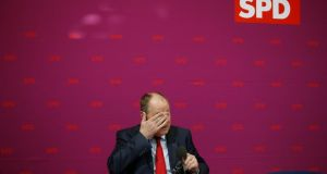Mr Steinbrück, Social Democratic Party (SPD) candidate for this year's German general election, awaits the start of a party board meeting in Berlin last week. Photograph: Tobias Schwarz/Reuters