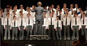 Belvedere College Senior Choir at the Electric Ireland Feis Ceoil, in the RDS Dublin.